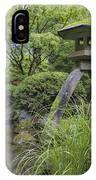 Japanese Stone Lantern By Water Stream IPhone Case
