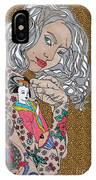 Japanese Tat Girl Leopard IPhone Case