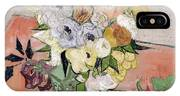 Japanese Vase With Roses And Anemones IPhone Case