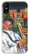 Jazz By Street Lamp IPhone Case