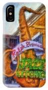 Jazz Kitchen Signage Downtown Disneyland Photo Art 02 IPhone Case