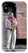 Jazz Man - Street Performer IPhone Case