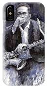 Jazz Saxophonist John Coltrane Black IPhone Case