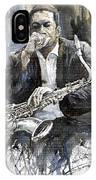 Jazz Saxophonist John Coltrane Yellow IPhone Case