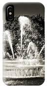 Jc Nichols Memorial Fountain Bw 1 IPhone Case