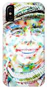 Jean Renoir Watercolor Portrait IPhone Case