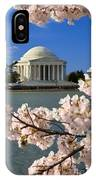 Jefferson Memorial Cherry Trees IPhone Case