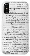 Jefferson: Tombstone IPhone Case