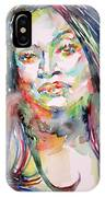 Jessye Norman - Watercolor Portrait IPhone Case