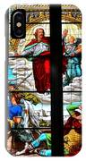 Jesus Angels Stained Glass Painting Inside Cologne Cathedral Germany IPhone Case