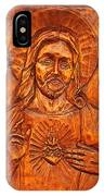 Jesus From A Door Panel At Santuario De Chimayo IPhone Case
