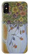 Jewel Tea Pitcher With Marigolds IPhone Case