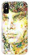 Jim Morrison Watercolor Portrait.2 IPhone Case