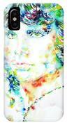 Jim Morrison Watercolor Portrait.5 IPhone Case