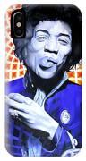 Jimi Hendrix-orange And Blue IPhone Case
