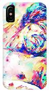 Jimi Hendrix Sleeping - Watercolor Portrait IPhone Case