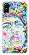 Jimi Hendrix  - Watercolor Portrait.3 IPhone Case