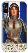 Joan Of Arc War Stamps Poster 1918 IPhone Case