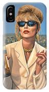 Joanna Lumley As Patsy Stone IPhone Case
