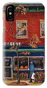 Joe Beef Restaurant Montreal IPhone Case
