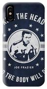 Joe Frazier - Navy Blue IPhone Case