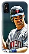 Joe Mauer Painting IPhone Case