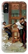 Johann Gutenberg's Printing Press IPhone X Case