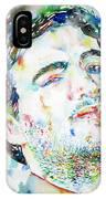 John Belushi Smoking - Watercolor Portrait IPhone Case