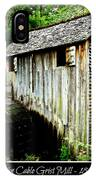 John Cable Grist Mill - Poster IPhone Case