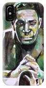 John Coltrane - Watercolor Portrait IPhone Case