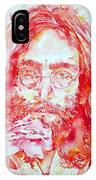 John Lennon With Rose IPhone Case