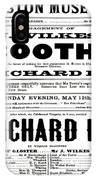 John Wilkes Booth Playbill IPhone Case