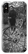 Johnny Cash  Meditating Wagon Wheel Graveyard Old Tucson Arizona 1971 IPhone Case