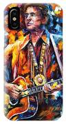 Johnny Cash - Palette Knife Oil Painting On Canvas By Leonid Afremov IPhone Case