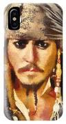 Johnny Depp Jack Sparrow Actor IPhone Case