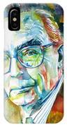 Jose Saramago Portrait IPhone Case