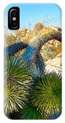 Joshua Tree Bowing Down At Quail Springs In Joshua Tree Np-ca IPhone Case