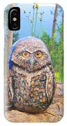 Journey Of Burrowing Owl IPhone Case