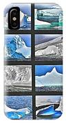 Journey's End For Vanishing Icebergs Assemblage In Saint Anthony-newfoundland  IPhone Case