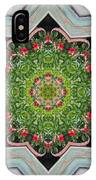 Jubilant Mandevilla Kaleidoscope Pattern IPhone Case