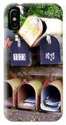 Jumbled Mailboxes IPhone Case