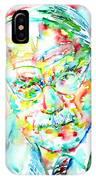Jung - Watercolor Portrait.2 IPhone Case