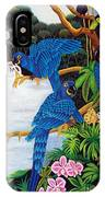 Jungle Chats Hand Embroidery IPhone Case