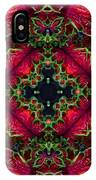 Kaleidoscope Made From An Image Of A Coleus Plant IPhone Case