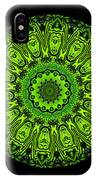 Kaleidoscope Triptych Of Glowing Circuit Boards IPhone Case