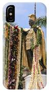 Kamehameha Covered In Leis IPhone Case