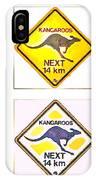 Kangaroos Road Sign Pop Art IPhone Case