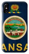 Kansas State Flag Art On Worn Canvas IPhone Case