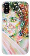 Kathleen Battle - Watercolor Portrait IPhone Case