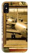 Kc-135 Stratotanker Rustic Flag IPhone Case